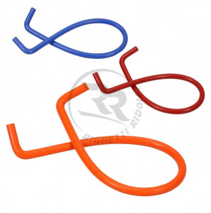 SILICONE PIPE 90° - LENGTH 1200mm - ORANGE COLOUR