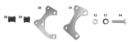V05 BRAKE CALIPER SUPPORT ASSEMBLY