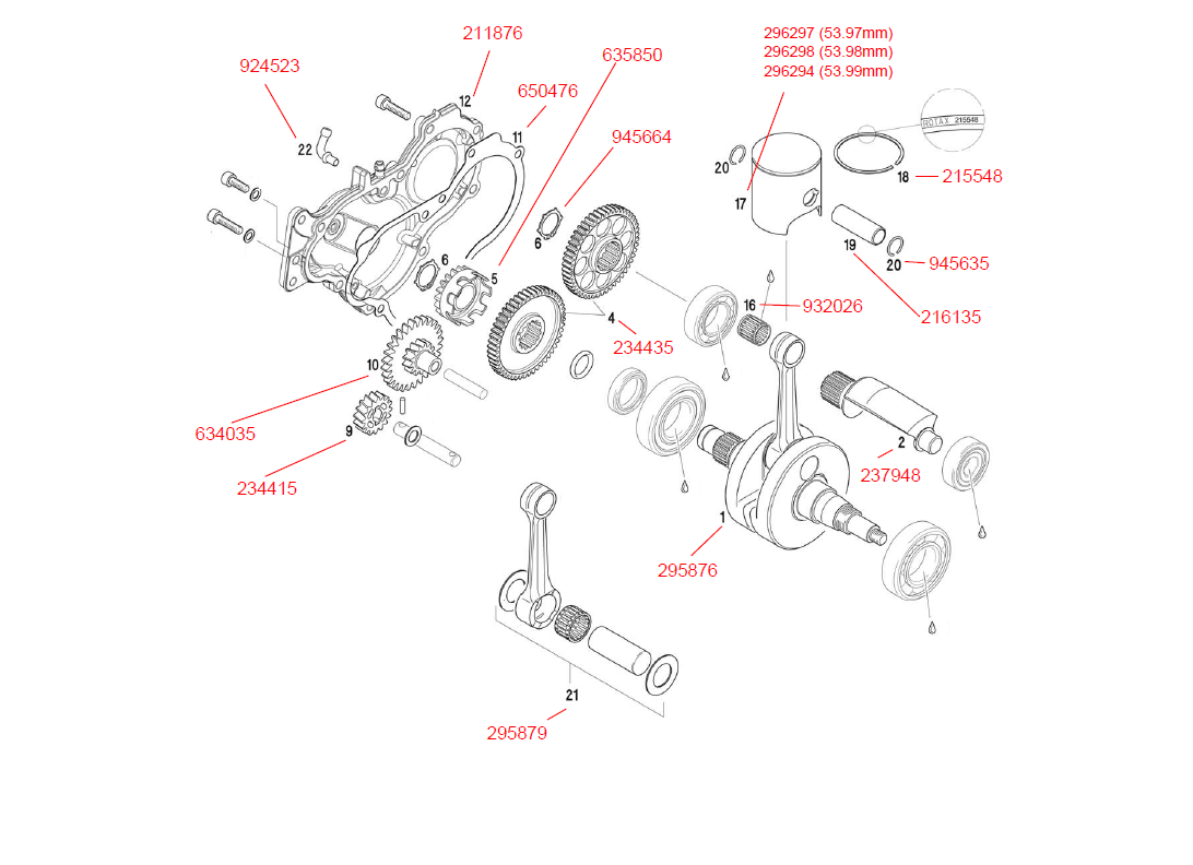 Product #21 - ROTAX CONNECTING ROD KIT