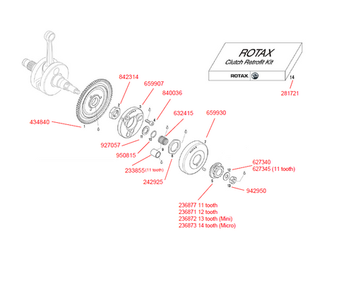 Product #14 - KIT ASSY. CLUTCH COMPLETE NEW VERSION/GEARS KIT