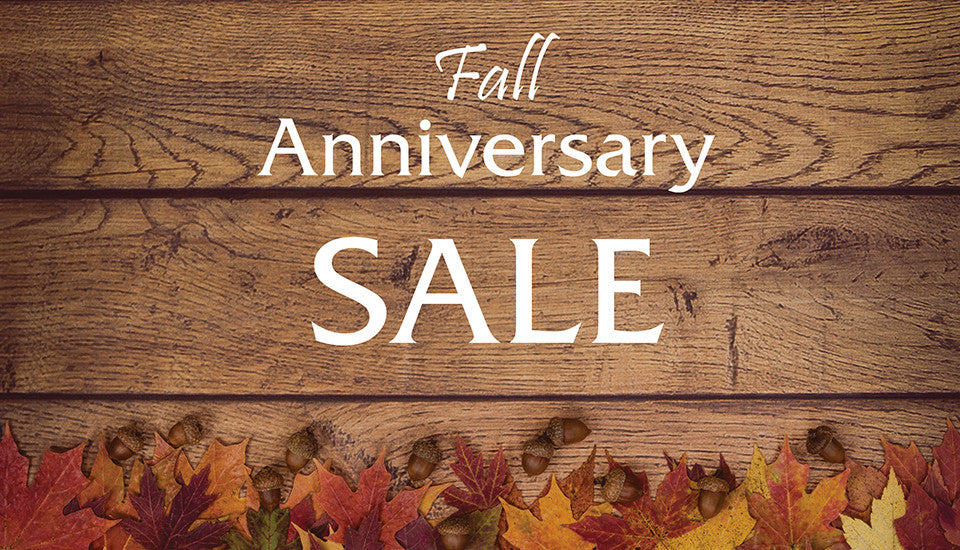 Fall Anniversary Sale