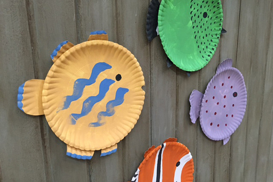 Kids Crafting: Painted Fish Project