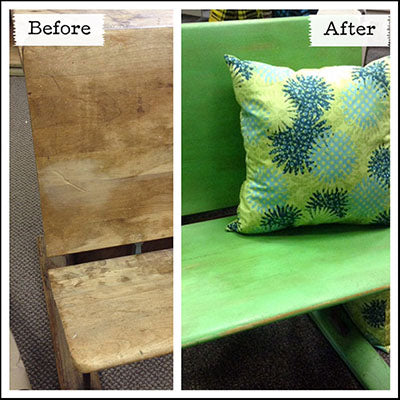 Antibes Green Chalk Paint® antique desk makeover - by MECO7