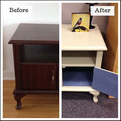 Countrey Grey Chalk Paint Before & After Table - Refinished by MECO7