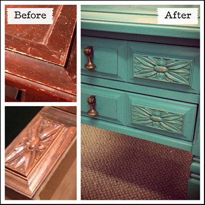 End Table refinished with Florence Chalk Paint® - by MECO7