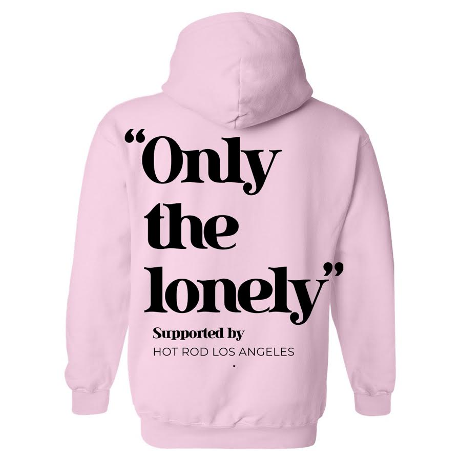 HOT ROD X ONLY THE LONELY HOODIE (PINK/BLACK)
