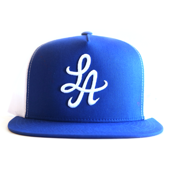 Signature LA Trucker Hat (Royal Blue/ White)