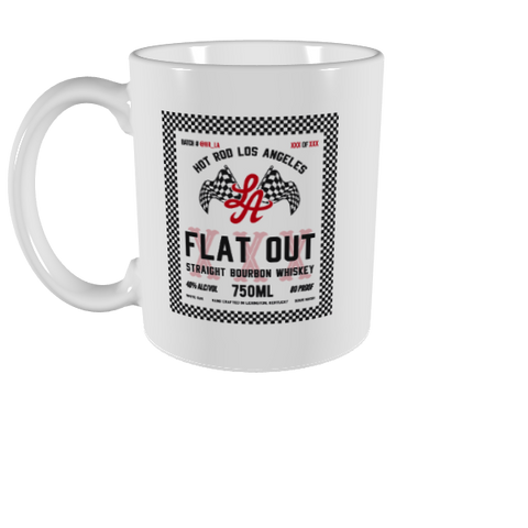 "HOT ROD LA ""FLATOUT"" LOGO MUG (WHITE/BLACK)"