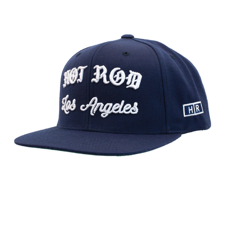 HOT ROD SIGNATURE LA SNAPBACK HAT CITY IN DISTRESS SERIES (RIP Los Angeles) BLK/WHT