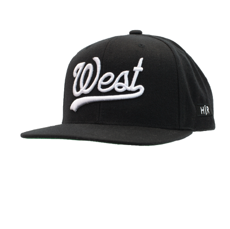 "HOT ROD ""WEST"" SNAPBACK (BLACK/WHITE)"