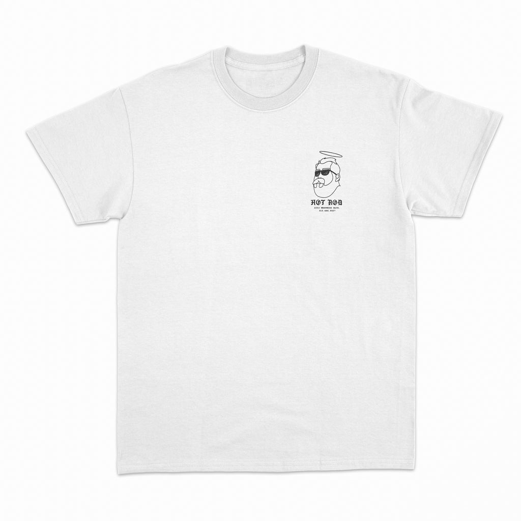 SAINT BERNARD TEE (get your vans at hot rod) WHITE