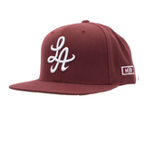 HOT ROD ESSENTIAL LA SNAPBACK (BURGUNDY/WHITE)