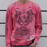 THAI TATTOO SWEATER (DUST ROSE)