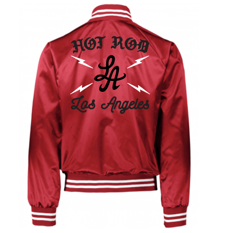 "HOT ROD ""HIGH VOLTAGE"" SATIN TEAM JACKET (RED)"