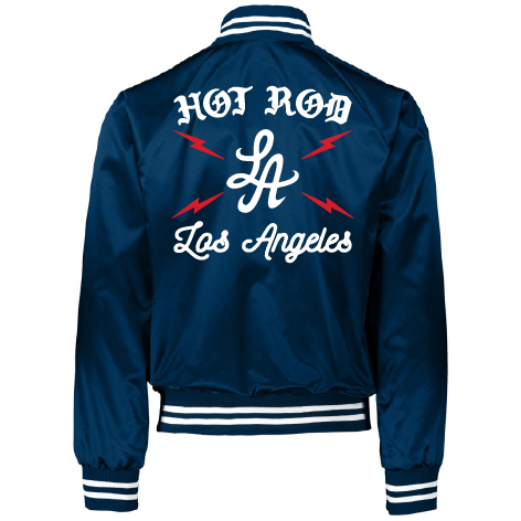 "HOT ROD ""HIGH VOLTAGE"" SATIN TEAM JACKET (ROYAL)"