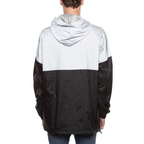 HOT ROD TWO TONE REFLECTIVE ANORAK HOODIE  (SILVER)