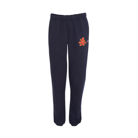 HOT ROD SIGNATURE LA CHAMPION REVERSE WEAVE SWEATPANT (NAVY/CARDINAL RED)