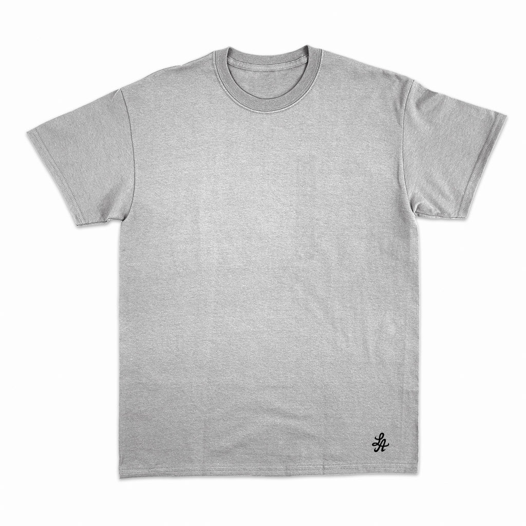 HOT ROD SIGNATURE LA FINE COTTON TEE (HEATHER GREY/ BLACK)
