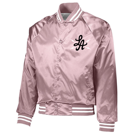 "HOT ROD ""HIGH VOLTAGE"" SATIN TEAM JACKET (PINK)"