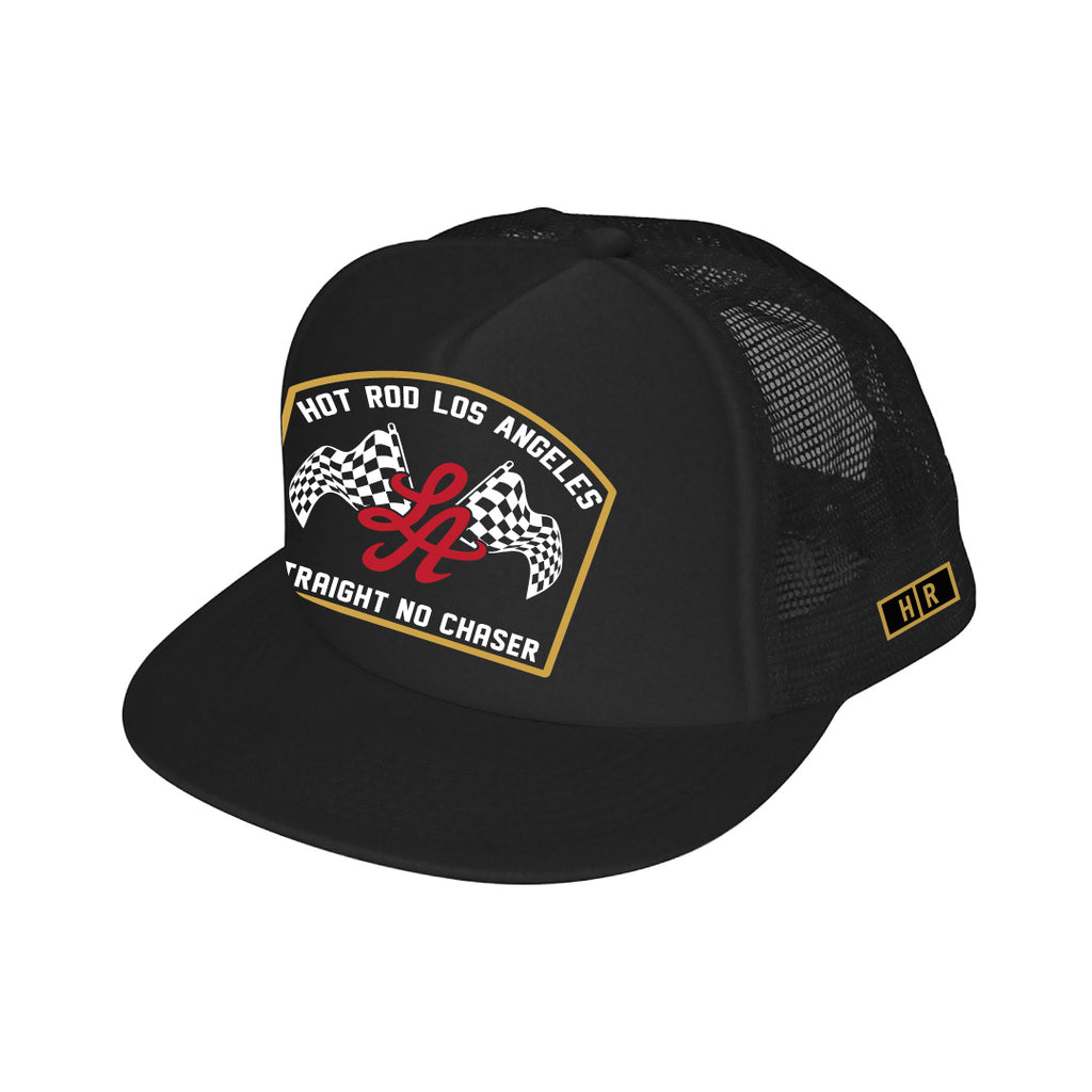 HRLA® TRUCKER CAP | (straight no chaser) BLACK/BLACK