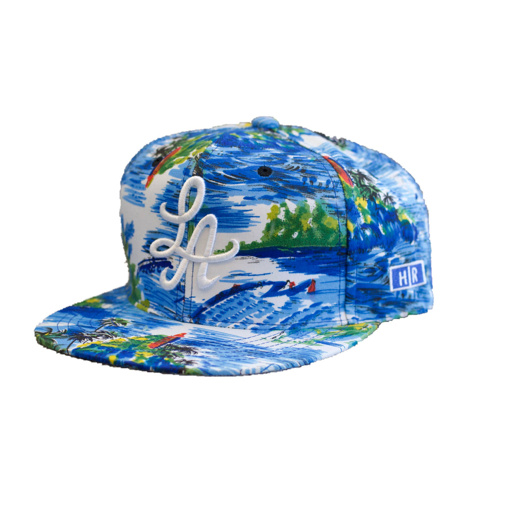 HOT ROD ESSENTIAL LA SNAPBACK TROPICAL HAZE (MULTI/WHITE)