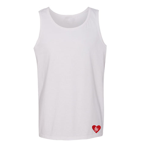 "HOT ROD LA ""LOVE ONE ANOTHER"" EMBROIDERED TANK (WHITE)"