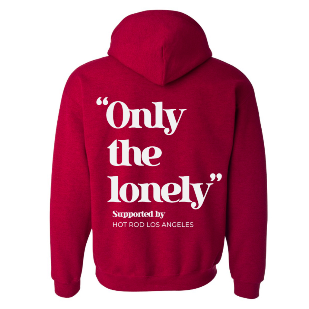 HOT ROD X ONLY THE LONELY HOODIE (RED/WHITE)