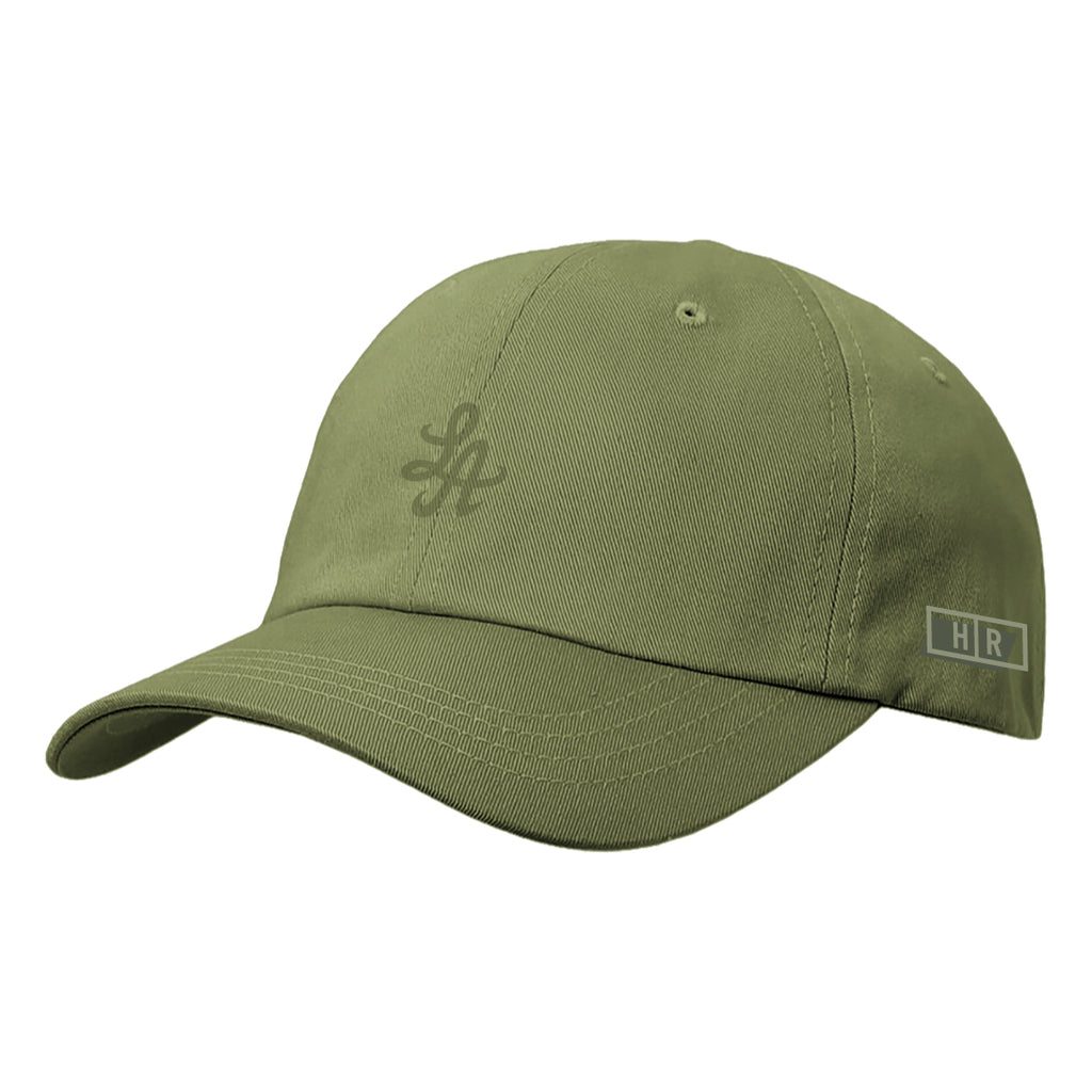 Hot Rod 6-Panel Adjustable Strap Cap (Olive)