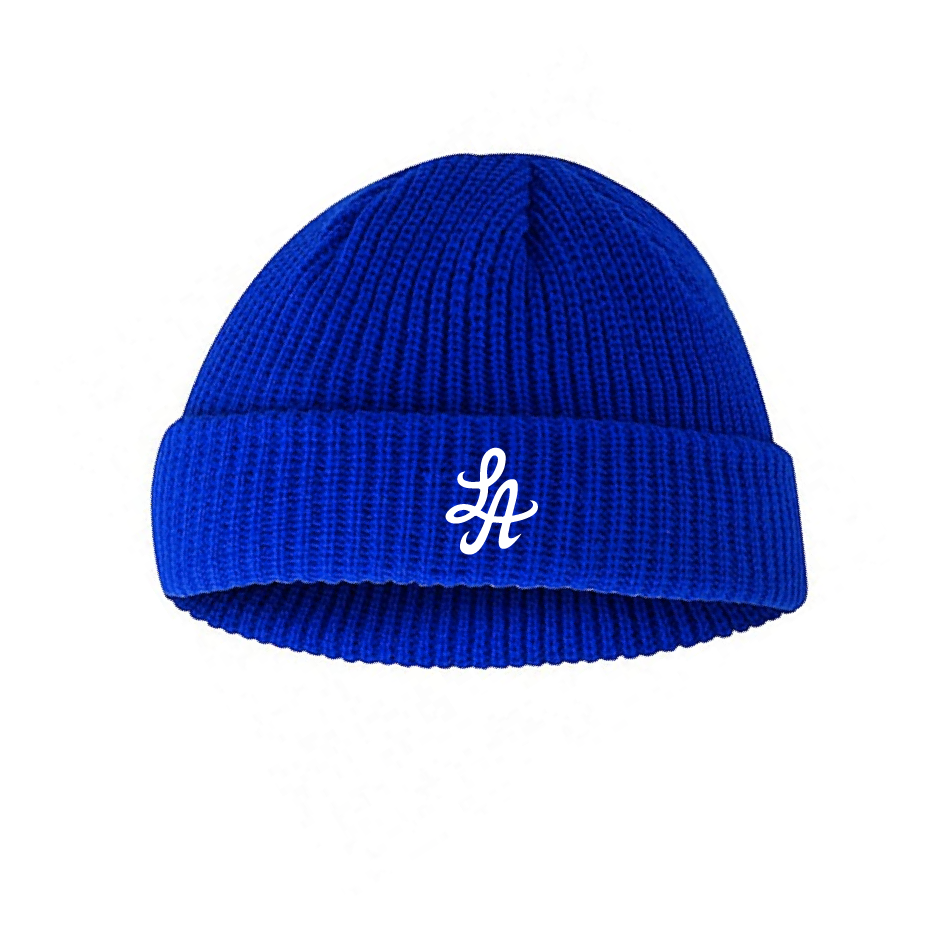 HOT ROD SHOREMAN LOGO BEANIE (ROYALE BLUE/WHITE)