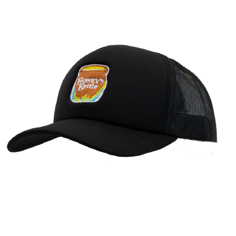 "HOT ROD  ""LOVE ONE ANOTHER"" TRUCKER CAP (BLACK/WHITE)"