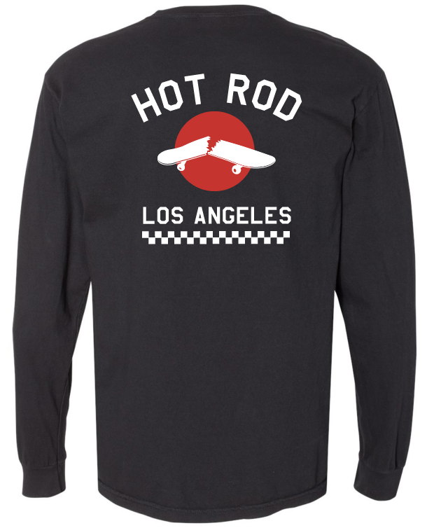 "HOT ROD ""WE USED TO BE A SKATE SHOP"" LONG SLEEVE (WASHED BLACK)"