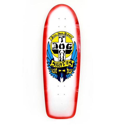 "DOGTOWN OG BULL DOG RIDER DECK 10"" X 30.25"" (WHITE/ RED FADE)"