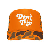 FREE AND EASY DON'T TRIP OG CAMO TRUCKER HAT