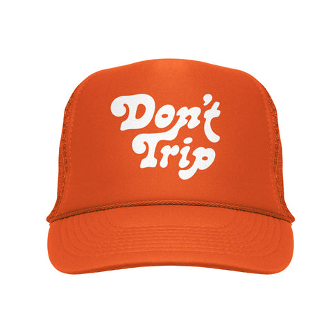FREE AND EASY DON'T TRIP OG TRUCKER HAT ORANGE