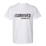 I SURVIVED (covid-19) WHITE TEE SHIRT FOR CHARITY