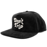 FREE AND EASY DON'T TRIP CORDUROY HAT (BLACK)