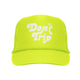 FREE AND EASY DON'T TRIP OG TRUCKER HAT HIGHLIGHTER