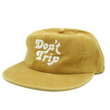 FREE AND EASY DON'T TRIP UNSTRUCTURED HAT (MUSTARD)