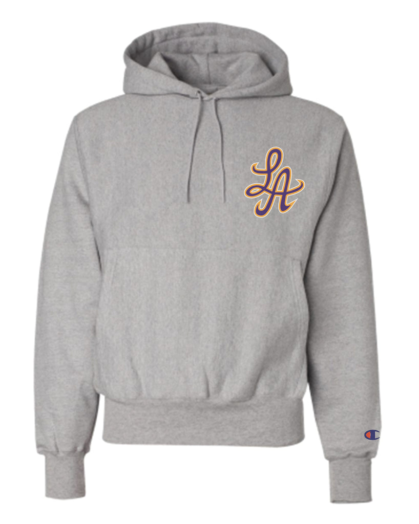 HOTROD SIGNATURE LA CHAMPION REVERSE WEAVE HOODIE (GREY/PURPLE)