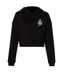 HOT ROD WOMENS CROP HOODIE (BLACK)