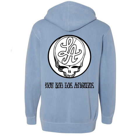 HOT ROD BOOTLEG YOUR FACE UV PHOTOCHROMO HOODIE (PIGMENT BLUE)