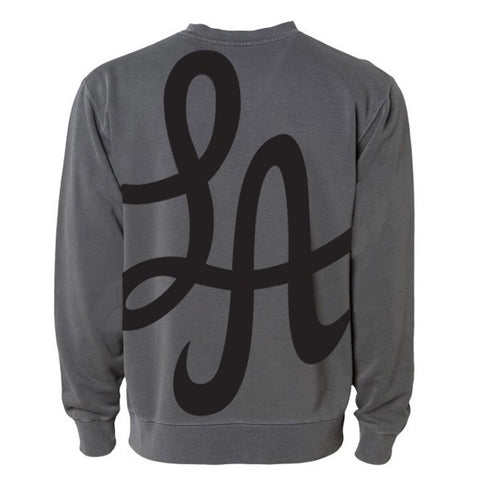 HOT ROD OVERSIZED LA CREWNECK (PIGMENT BLACK)