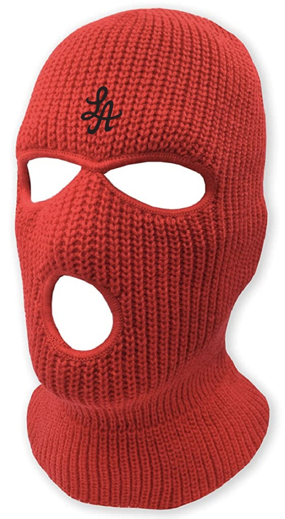 HOT ROD LA LOGO BURGLARY MASK  (RED/BLACK)