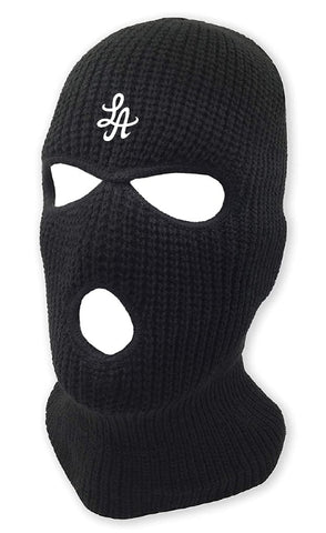HOT ROD LA LOGO BURGLARY MASK  (BLACK/WHITE)