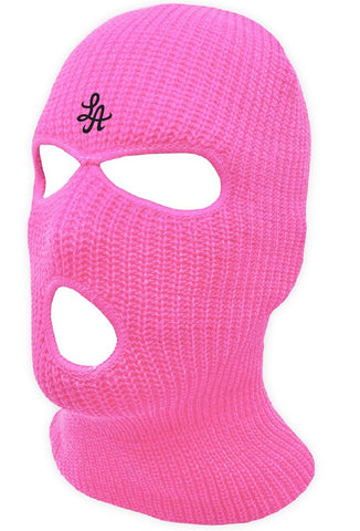 HOT ROD LA LOGO BURGLARY MASK  (PINK/BLACK)