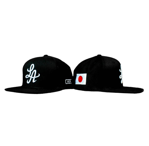 HOT ROD SIGNATURE LA SNAPBACK HAT GLOBAL COLLECTION JAPAN (BLACK/WHITE)