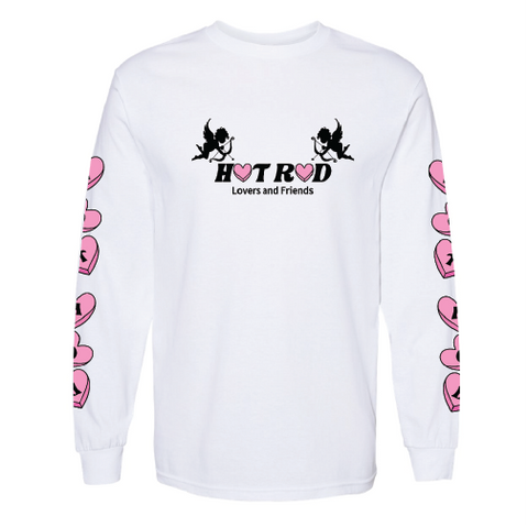 "HOT ROD ""FRIENDS & LOVERS"" CHERUB LONG SLEEVE TEE (WHITE)"