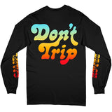 FREE AND EASY DONT TRIP LBC LS TEE (BLACK)