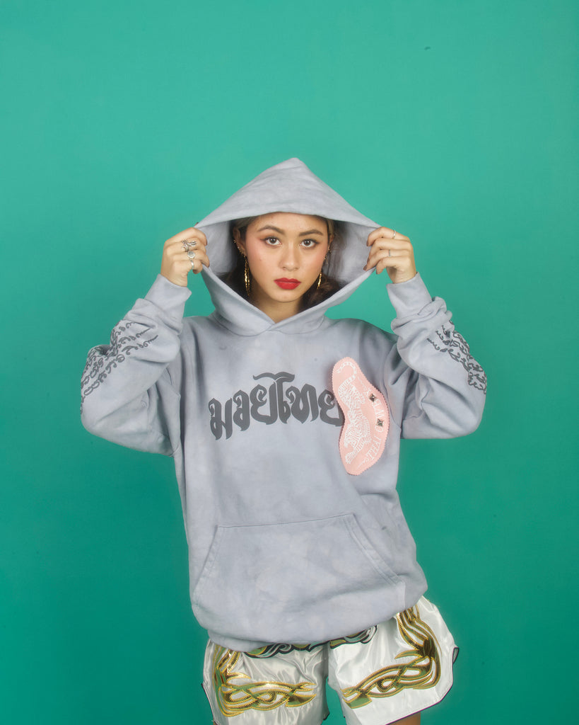 "THAI COWBOY ""REVOLVER GREY"" OVERSIZED HEAVYWEIGHT HOODIE"