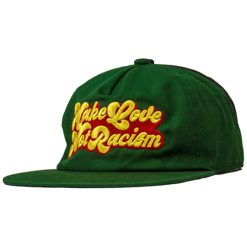 "ONLY THE LONELY ""MAKE LOVE"" EMBROIDERED 5-PANEL DECONSTRUCTED HAT (GREEN)"